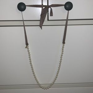 J. Crew Pearl and Ribbon necklace